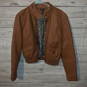Light brown faux leather jacket